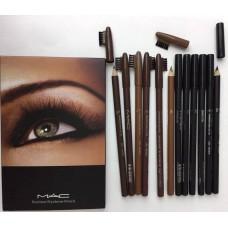 Набор карандашей м.а.c для глаз и бровей  (6+6)