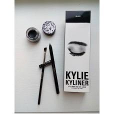 """Kylie Kyliner Карандаш+ гелиевая подводка для глаз """" черный """","""