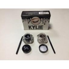 Подводка KYLIE гелиевая для глаз  (черная+коричневая)