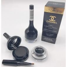 """Тени  CHANEL для бровей+подводка для глаз 2в1Eyebrow and Eyeliner """" 01"""", черная"""