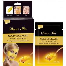 "Маска для лица ""Dear She Gold Collagen Peel Off Facial Mask"", 20g"