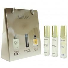 Подарочный набор Giorgio Armani, 3х15 ml (мужской)